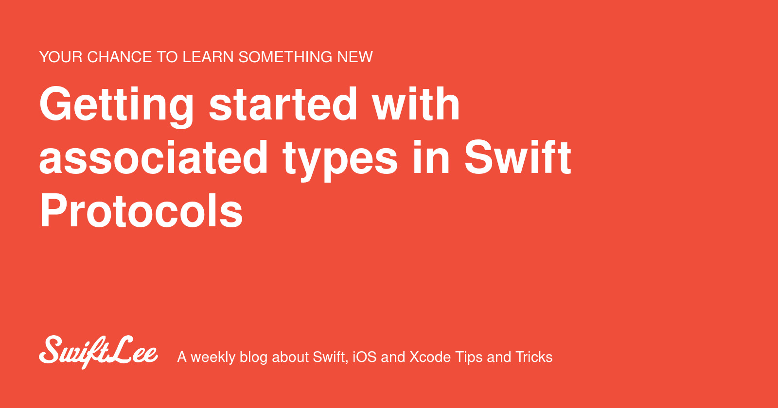 Getting started with associated types in Swift Protocols